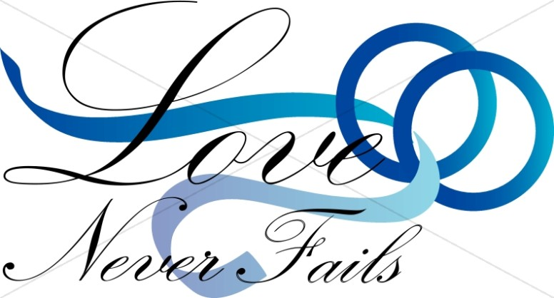 Love never fails clipart picture library stock Love Never Fails | Christian Wedding Clipart picture library stock