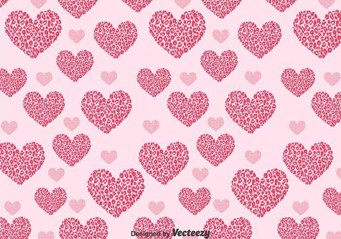 Love pattern clipart clip art stock Love Shape Leopard Pattern - Download Free Vectors, Clipart ... clip art stock
