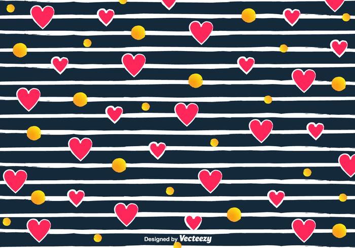 Love pattern clipart svg library Vector Love Pattern With Hearts And Stripes - Download Free ... svg library