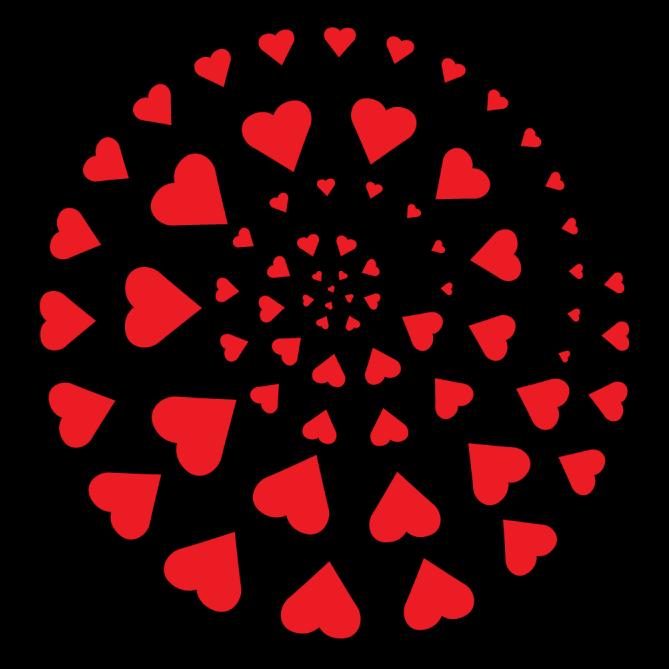 Love pattern clipart clip download Heart Swirl - Apollo Design 4026 Circle Of Love Steel ... clip download