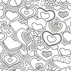 Love pattern clipart royalty free download Seamless Black Background Covered With Ornate White Heart ... royalty free download