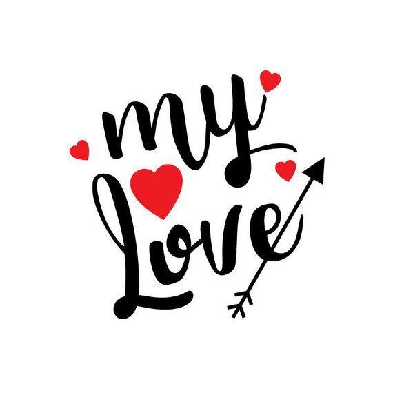 Love stickers clipart vector library download Valentine Vinyl Decal - My Love Sticker - Coffee Mug Sticker ... vector library download