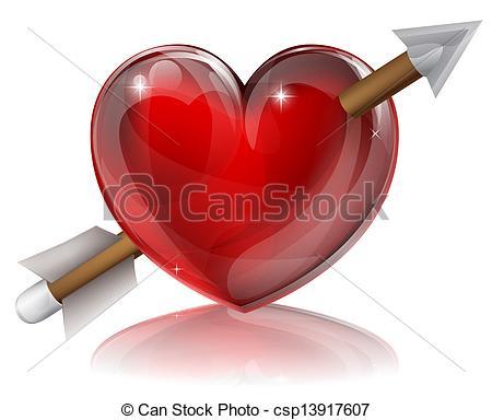 Love symbol with arrow clipart clipart Vector Clipart of Love Heart Symbol With Arrow - Love heart symbol ... clipart