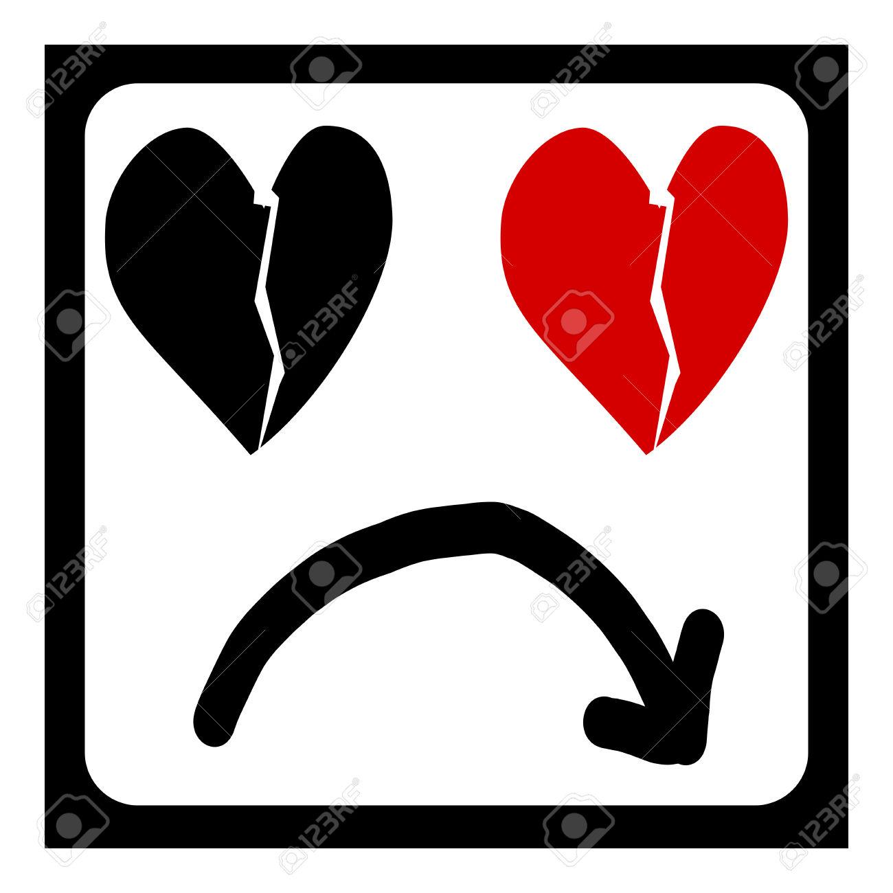 Love symbol with arrow clipart clip art royalty free Heartbreak And Arrow, Sad Love Symbol Vector Royalty Free Cliparts ... clip art royalty free