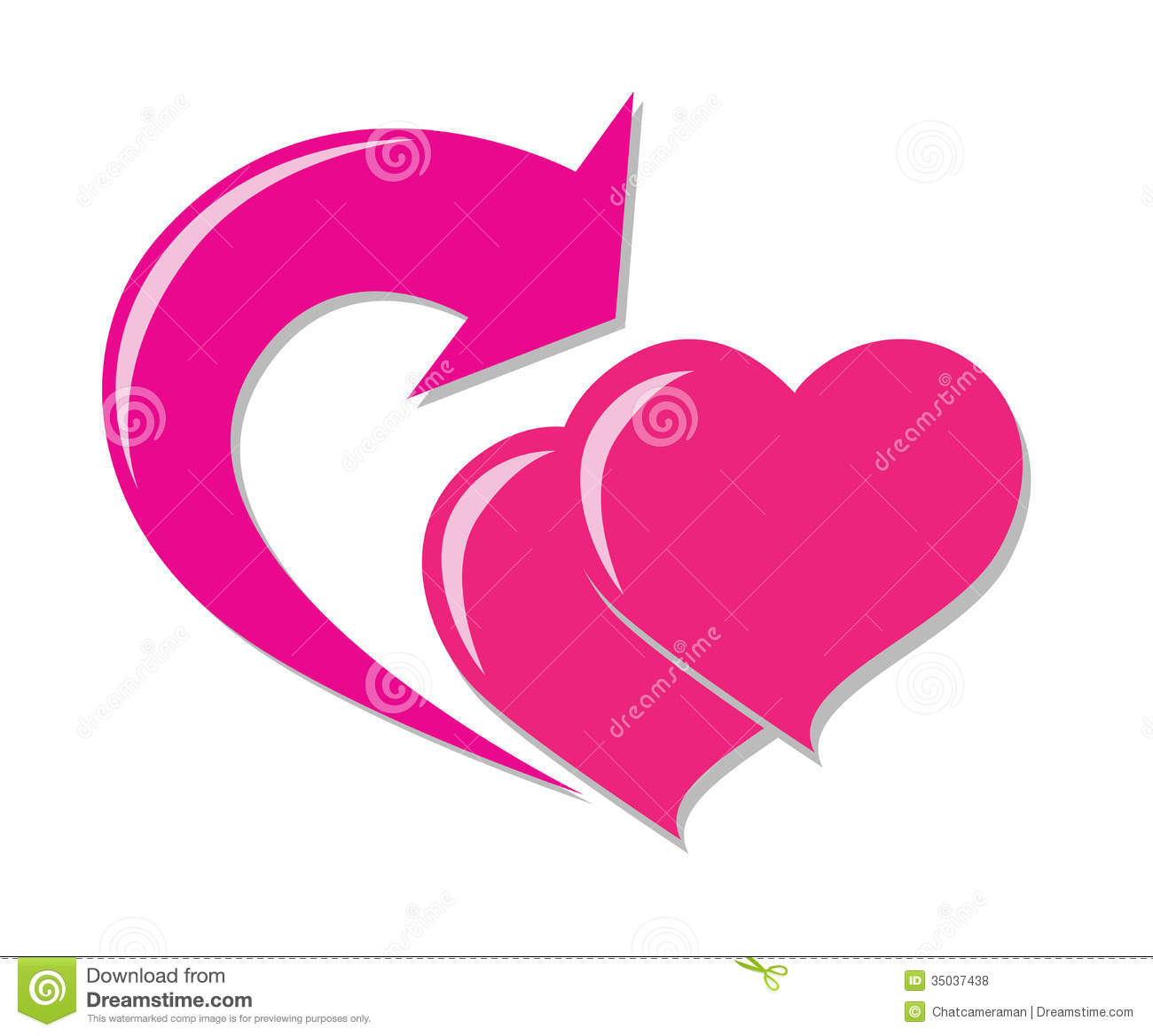 Love symbol with arrow clipart jpg black and white stock Love Return Icon Royalty Free Stock Photos - Image: 35037438 jpg black and white stock