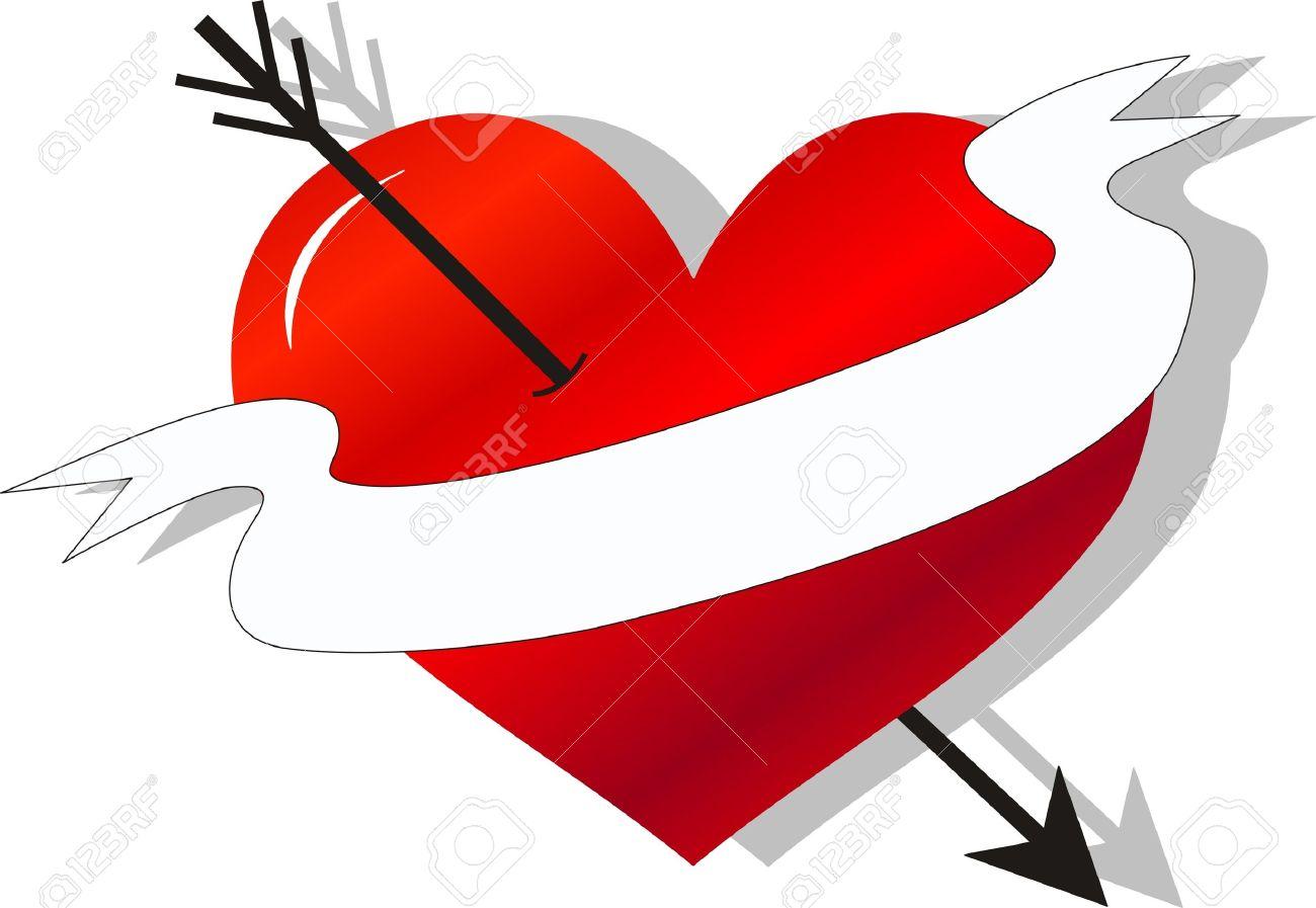 Love symbol with arrow clipart vector royalty free 33,197 Heart Arrow Stock Vector Illustration And Royalty Free ... vector royalty free