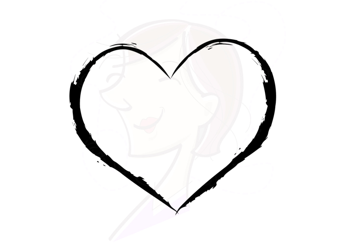 Love symbol with arrow clipart clip art black and white download Heart Rustic Frames Digital Clipart Border Hand Drawn Arrow Clip ... clip art black and white download
