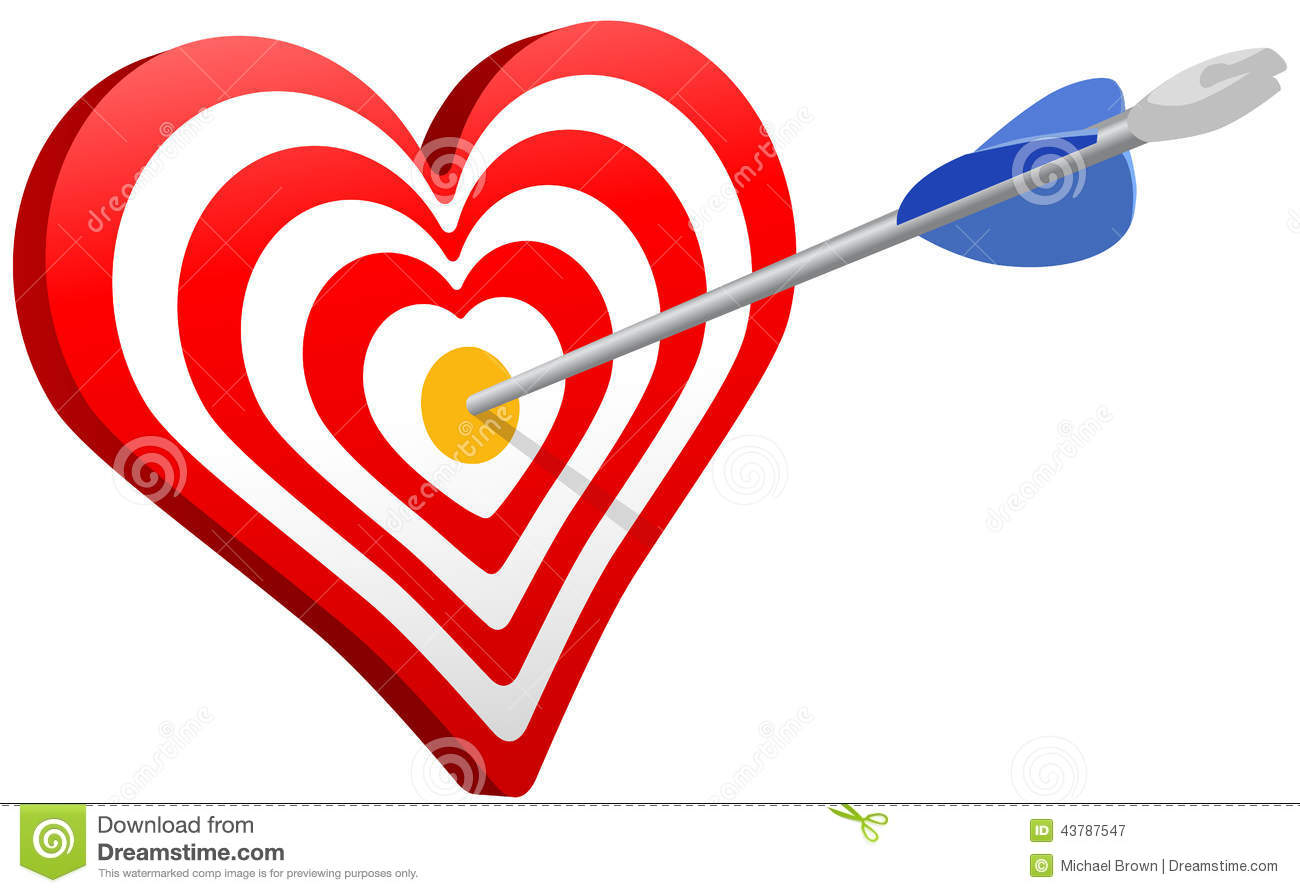 Love symbol with arrow clipart clip freeuse stock Love Arrow Heart Target Valentine Stock Vector - Image: 43787547 clip freeuse stock