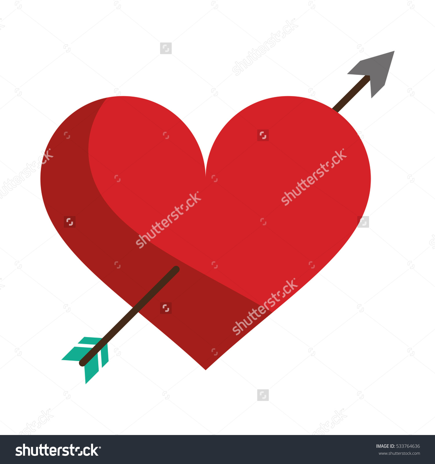 Love symbol with arrow clipart picture free stock Red Heart Arrow Love Symbol Stock Vector 533764636 - Shutterstock picture free stock