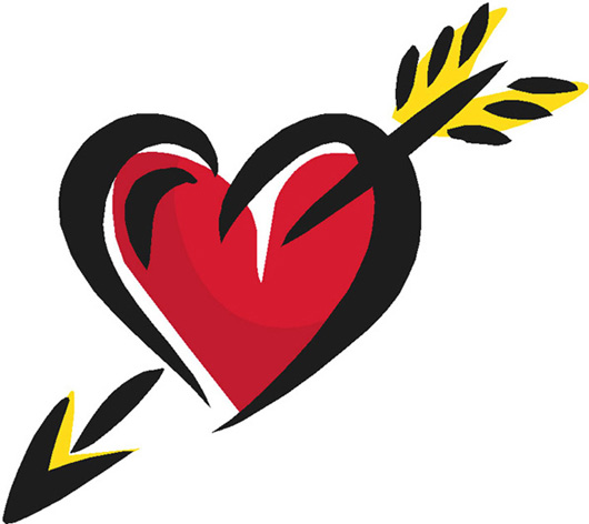 Love symbol with arrow clipart vector black and white Heart With Arrow | Free Download Clip Art | Free Clip Art | on ... vector black and white