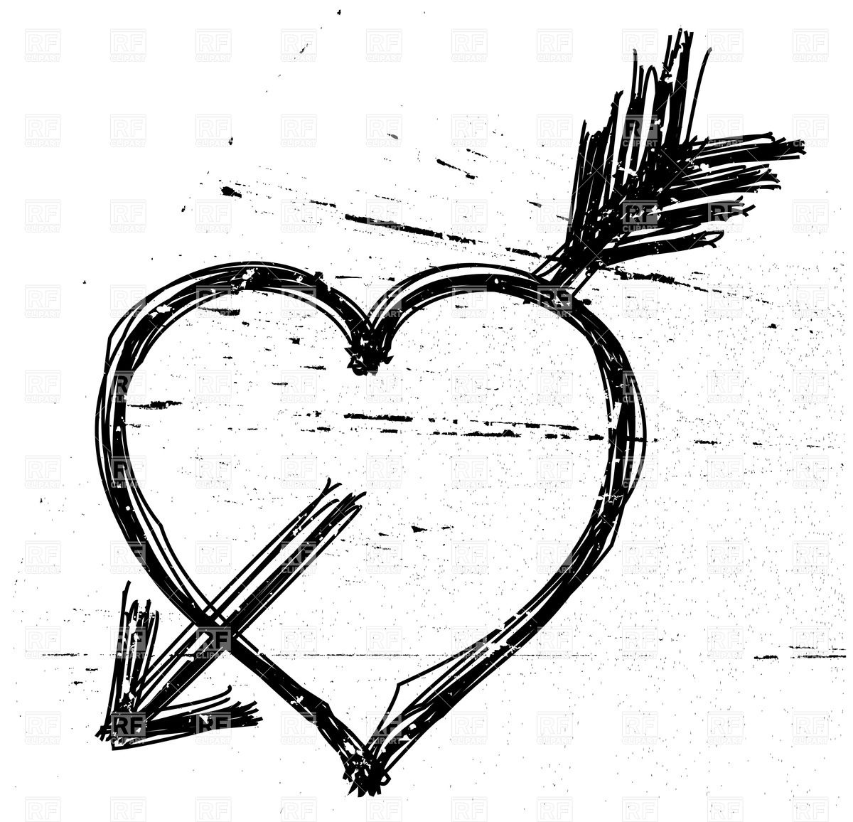 Love symbol with arrow clipart vector black and white library Free love arrow clipart - ClipartFest vector black and white library