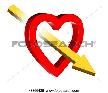 Love symbol with arrow clipart clipart library stock Stock Illustration of Love symbol k8366436 - Search Clip Art ... clipart library stock