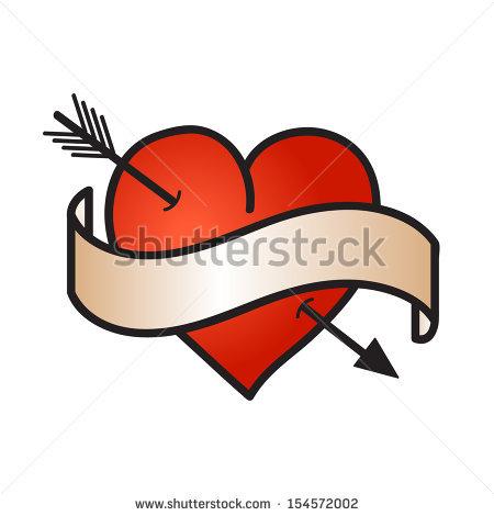 Love symbol with arrow clipart vector transparent stock Arrow Through Heart Stock Images, Royalty-Free Images & Vectors ... vector transparent stock
