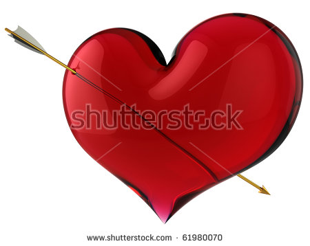 Love symbol with arrow clipart image royalty free library Arrow Through Heart Stock Images, Royalty-Free Images & Vectors ... image royalty free library