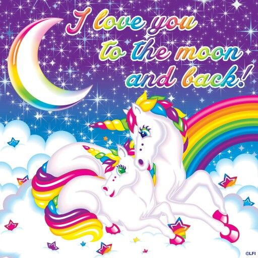 Love you to the moon and back clipart straight picture royalty free I love you to the moon and back ~ Lisa Frank | Lisa Frank ... picture royalty free