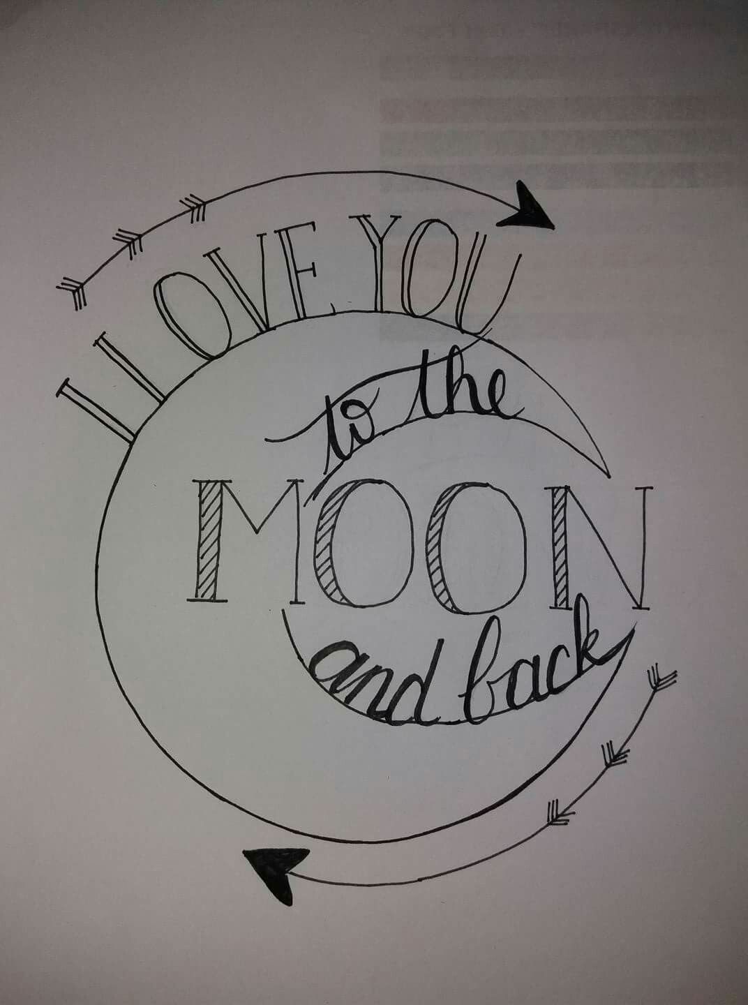 Love you to the moon and back clipart straight clipart black and white download I love you to the moon and back | Tina baby shower ... clipart black and white download