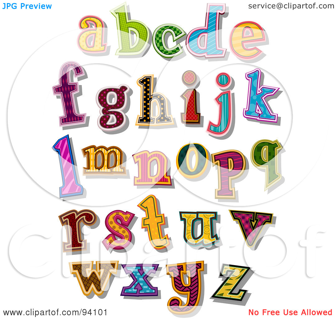 Lower case alphabet clipart jpg royalty free download Royalty-Free (RF) Clipart Illustration of a Digital Collage Of ... jpg royalty free download