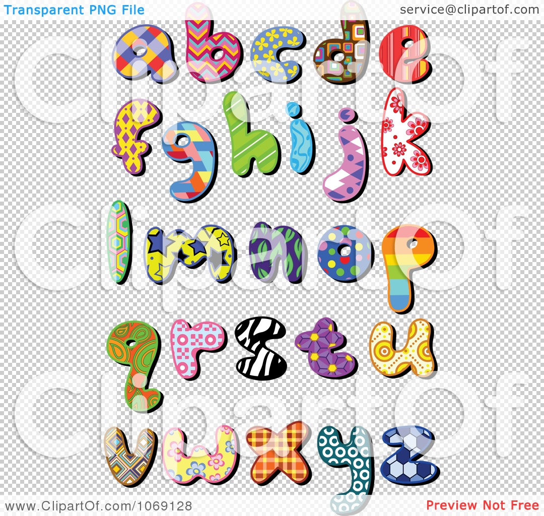 Lower case alphabet clipart clip art freeuse stock Clipart Patterned Lowercase Letters - Royalty Free Vector ... clip art freeuse stock