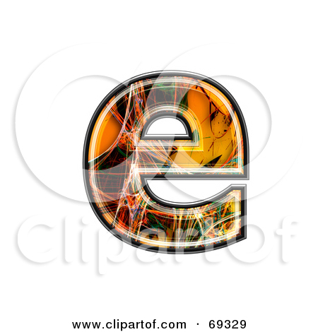Lower case e clipart clip black and white library Royalty-Free (RF) Clipart Illustration of a Fiber Symbol ... clip black and white library