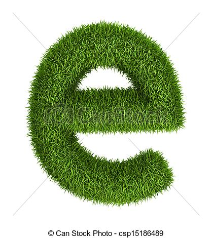 Lower case e clipart png Stock Illustration of Natural grass letter e lowercase - Letter e ... png