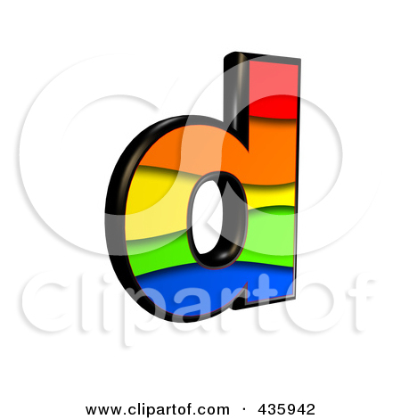 Lower case letter d clipart clipart transparent stock Royalty-Free (RF) Clipart Illustration of a 3d Rainbow Symbol ... clipart transparent stock