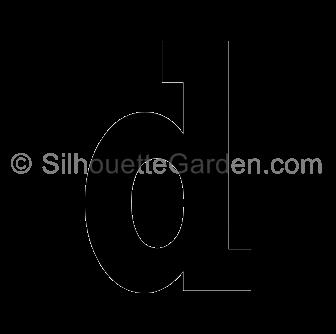 Lower case letter d clipart picture transparent download Letter D Silhouette picture transparent download