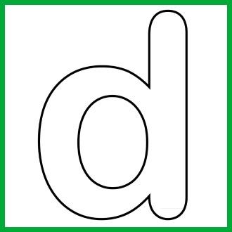 Lower case letter d clipart svg black and white library Alphabet lower case letter d clipart - ClipartFox svg black and white library
