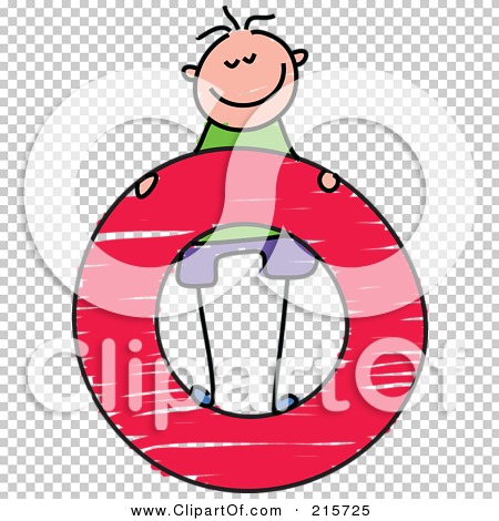 Lower case letter o clipart graphic free download Royalty-Free (RF) Clipart Illustration of a Childs Sketch Of A Boy ... graphic free download