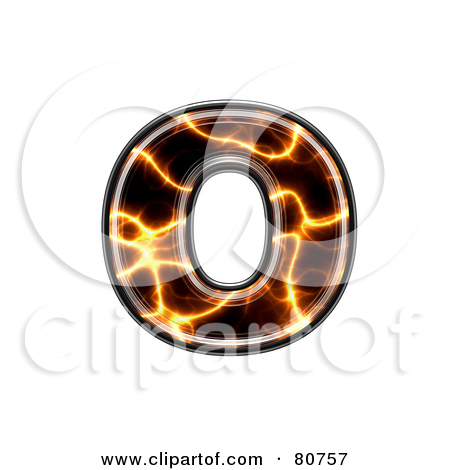 Lower case letter o clipart jpg free stock Royalty-Free (RF) Clipart Illustration of an Electric Symbol ... jpg free stock