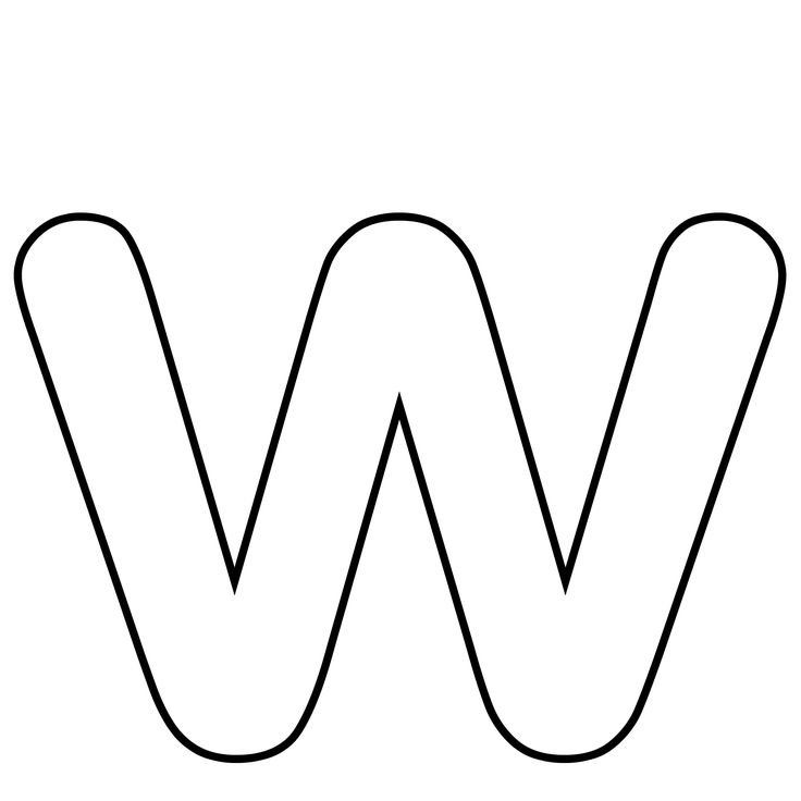 Lower case letter w clipart clipart library library Clipart letter w black and white - ClipartFest clipart library library