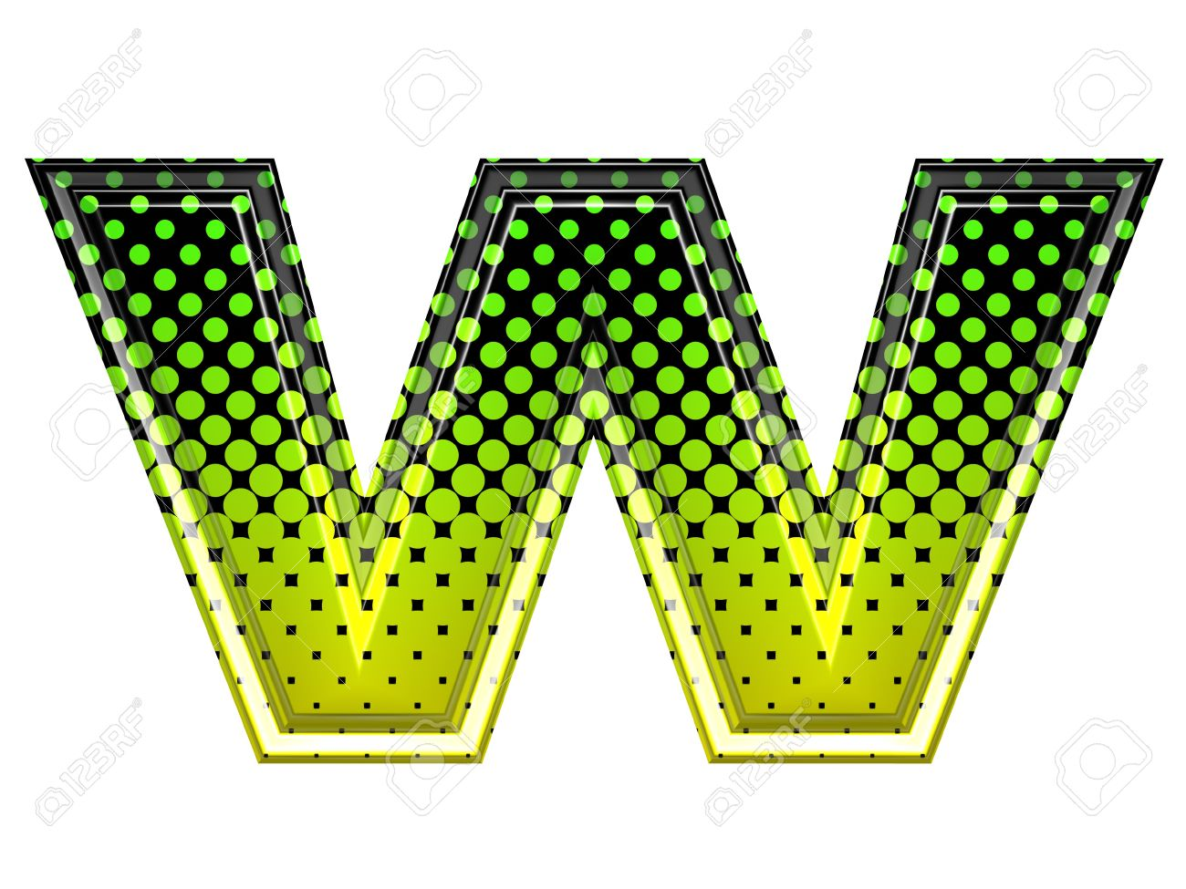 Lower case letter w clipart png freeuse stock Halftone 3d Lower-case Letter W Stock Photo, Picture And Royalty ... png freeuse stock