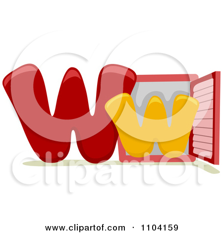 Lower case letter w clipart image library download Clipart Capital And Lowercase Letter W With A Window - Royalty ... image library download