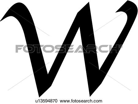 Lower case letter w clipart clip art royalty free stock Clipart of , alphabet, calligraphy, letter, lowercase, script, w ... clip art royalty free stock