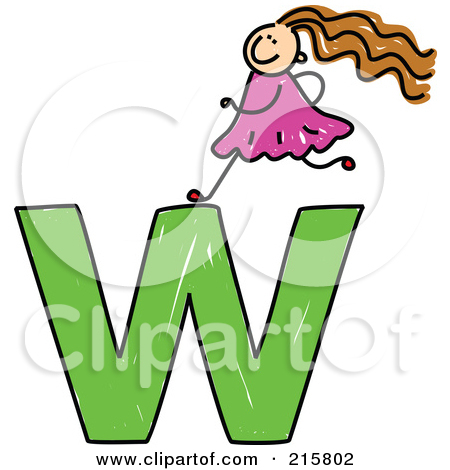 Lower case letter w clipart image library download Royalty-Free (RF) Clipart Illustration of a Childs Sketch Of A ... image library download