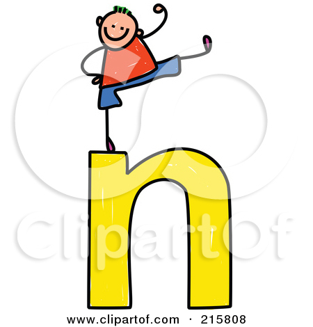 Lower case n clipart clipart transparent Royalty-Free (RF) Clipart Illustration of a Childs Sketch Of A ... clipart transparent