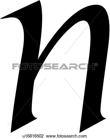 Lower case n clipart clip art library Clipart of , alphabet, calligraphy, letter, lowercase, n, script ... clip art library