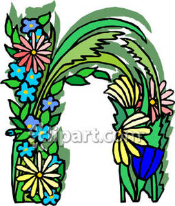 Lower case n clipart graphic freeuse library Case Letter N Made Of Flowers - Royalty Free Clipart Picture graphic freeuse library