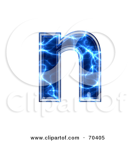 Lower case n clipart image transparent library Royalty-Free (RF) Clipart Illustration of a Blue Electric Symbol ... image transparent library