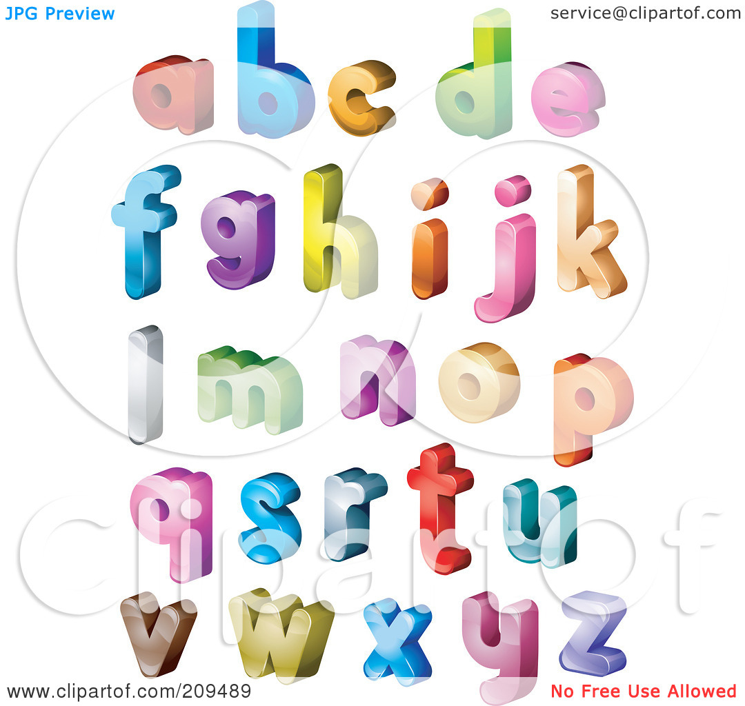 Lowercase alphabet clipart clip art transparent stock Royalty-Free (RF) Clipart Illustration of a Digital Collage Of 3d ... clip art transparent stock