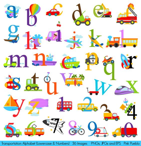 Lowercase alphabet clipart clipart black and white Transportation Alphabet Clipart Clip Art, Construction Alphabet ... clipart black and white