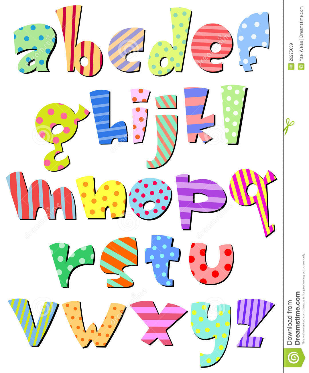 Lowercase alphabet clipart clip black and white stock Lower Case Comic Alphabet Royalty Free Stock Images - Image: 26275639 clip black and white stock