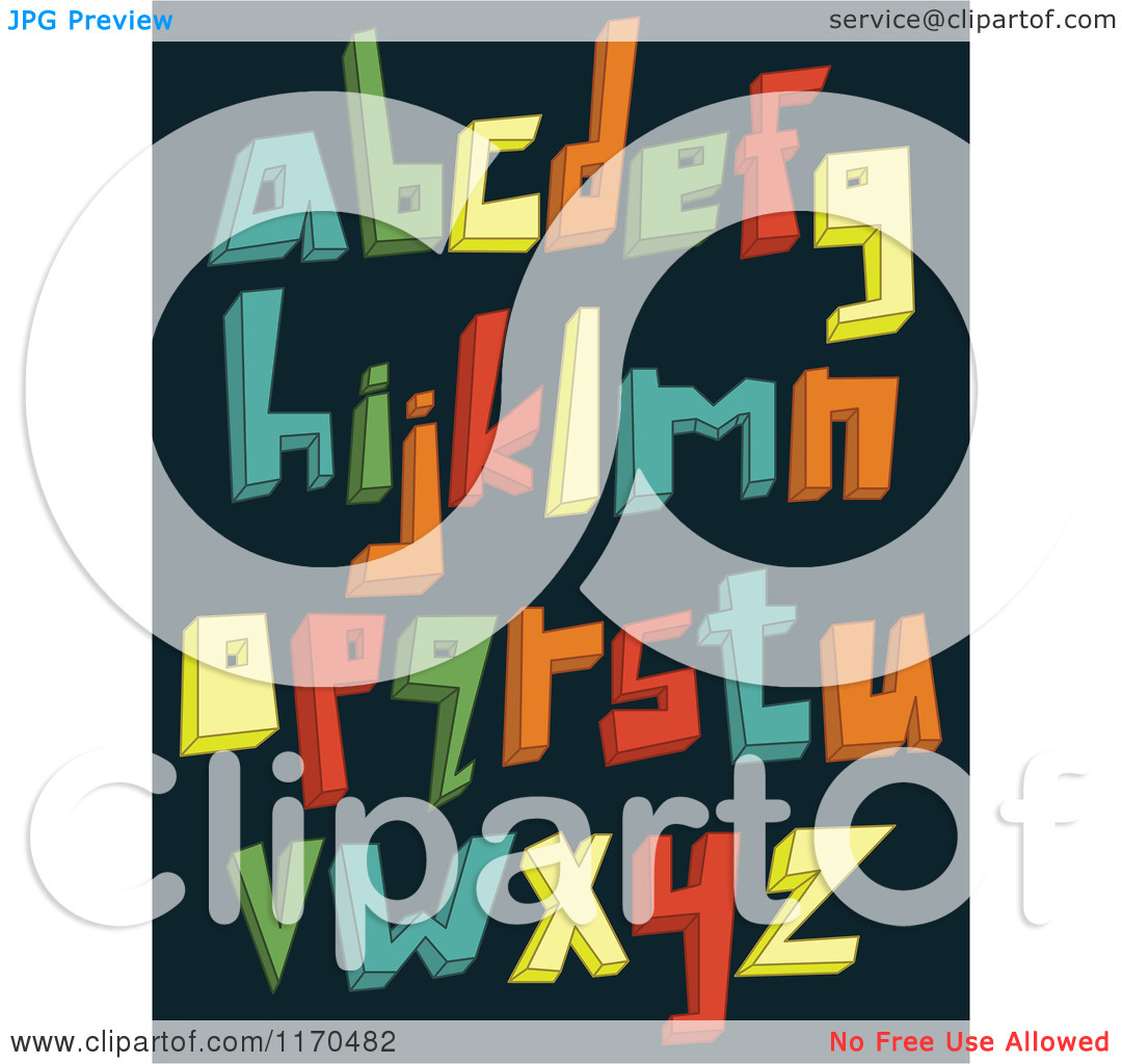 Lowercase e clipart with no background clip royalty free library Cartoon of Colorful 3d Lowercase Alphabet Letters on a Dark ... clip royalty free library