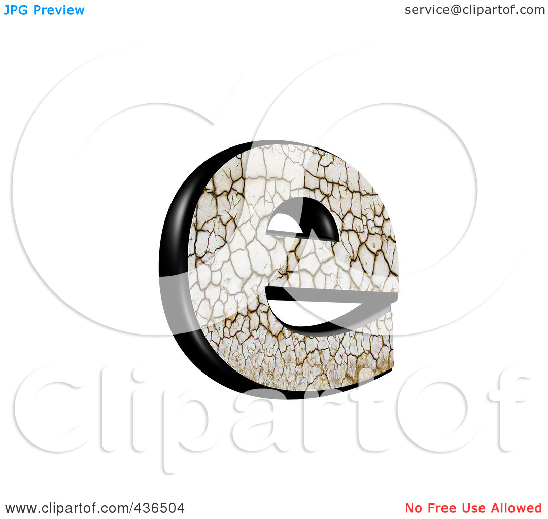 Lowercase e clipart with no background png transparent download Royalty-Free (RF) Clipart Illustration of a 3d Cracked Earth ... png transparent download