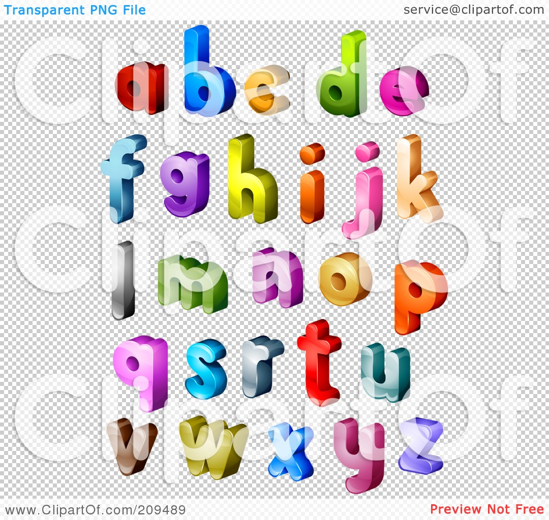 Lowercase letter clipart royalty free Royalty-Free (RF) Clipart Illustration of a Digital Collage Of 3d ... royalty free