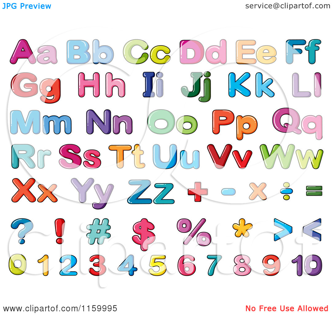 Lowercase letter clipart png royalty free Cartoon of Colorful Lowercase and Capital Letters Numbers and ... png royalty free