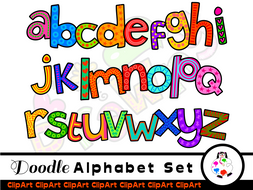 Lowercase letters clipart graphic black and white download Hand Drawn Lowercase Alphabet Clip Art graphic black and white download
