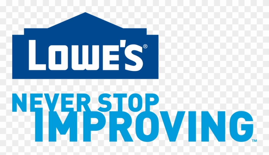 Lowes logo clipart graphic black and white library Play Sets At Lowe\'s - Lowes Logo Never Stop Improving ... graphic black and white library