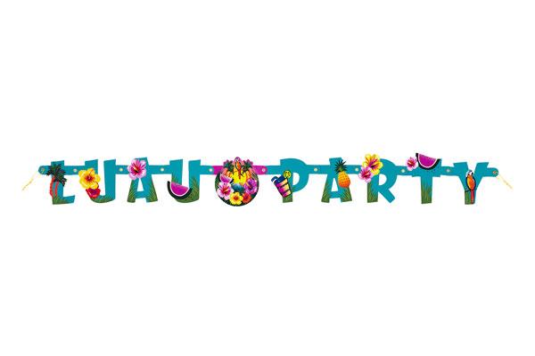 Luau banner clipart vector transparent Hawaiian Luau Jointed Banner vector transparent