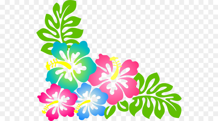 Luau banner clipart graphic royalty free Flowers Clipart Background png download - 600*500 - Free ... graphic royalty free