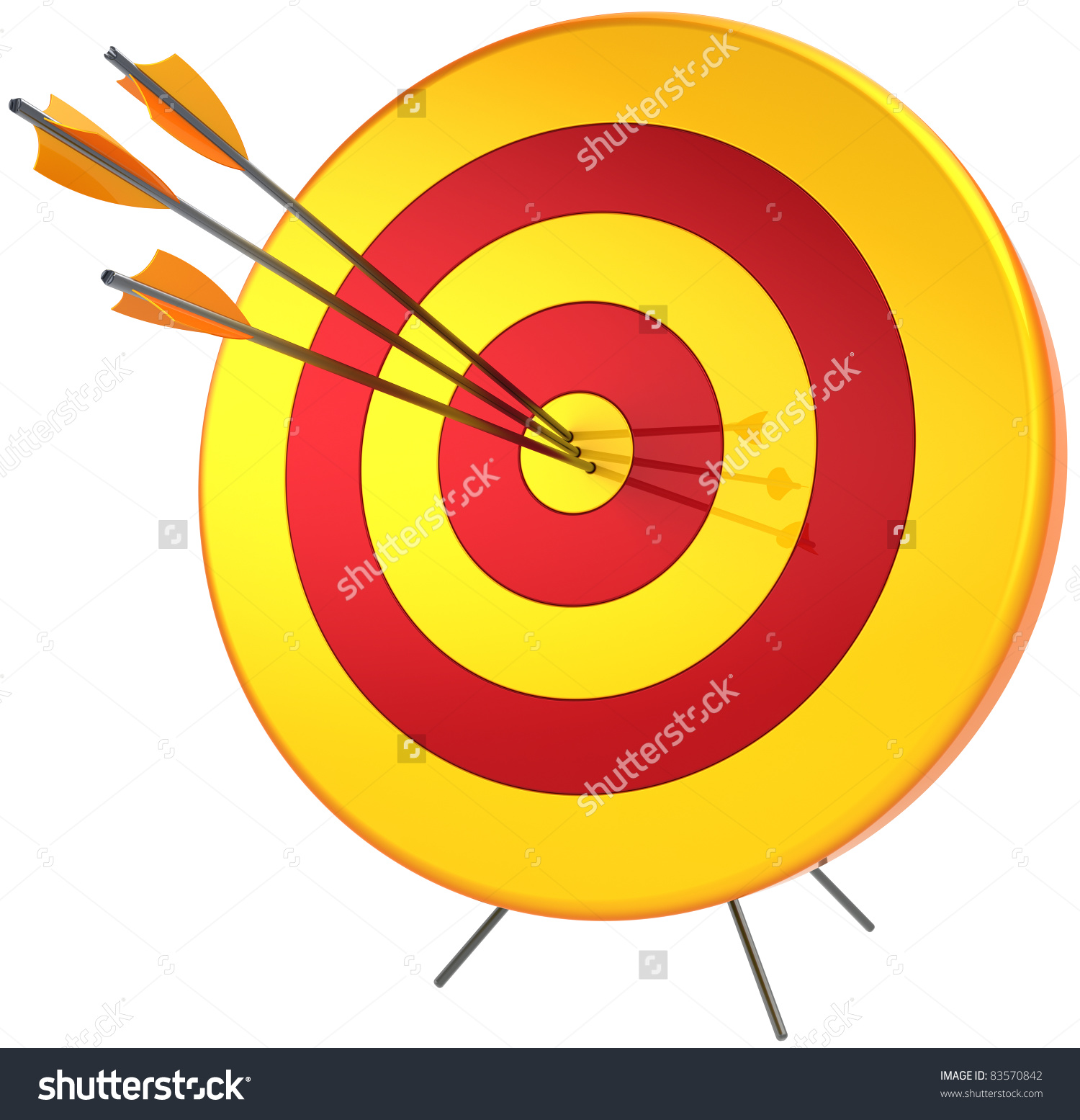 Lucky arrow clipart clip royalty free Target Success Hitting With Arrow. Perfect Accuracy Sniper ... clip royalty free